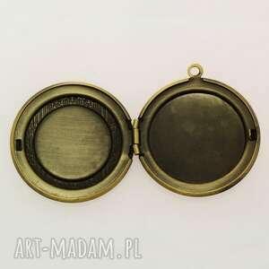 fioletowe naszyjniki zegar steampunk - sekretnik z łańcuszkiem