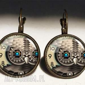 handmade naszyjniki sekretnik steampunkowa sowa -