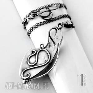 naszyjniki metaloplastyka strawberry srebrny naszyjnik