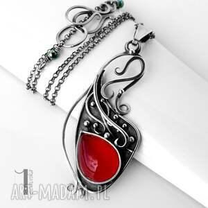 naszyjniki naszyjnik strawberry srebrny