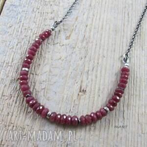 czerwone naszyjniki rubin subtelny naszyjnik z rubinem ii