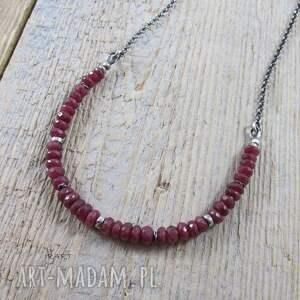 oryginalne naszyjniki rubin subtelny naszyjnik z rubinem ii