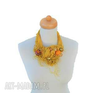 naszyjniki żółty sunflower naszyjnik handmade