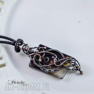 romantyczny naszyjniki surja - naszyjnik z agatem