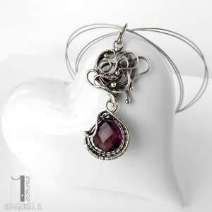 różowe naszyjniki naszyjnik syringa srebrny