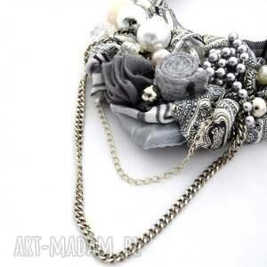 handmade naszyjniki naszyjnik szara eminencja