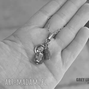 wyjątkowe naszyjniki srebro szkło antyczne i apatyt - wisior