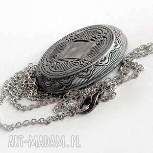 medalion naszyjniki niebieskie szmaragdowa komnata- piękny