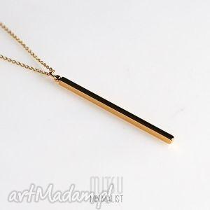 naszyjniki kreska sztabka złota na długim