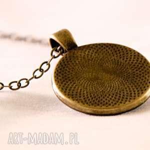 niebieskie naszyjniki medalion sztuka nowoczesna - duży