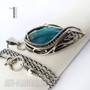 niebieskie naszyjniki labradoryt taivas i - srebrny naszyjnik