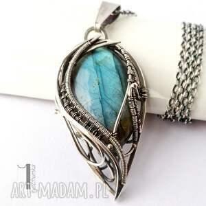 handmade naszyjniki wirewrapping taivas i - srebrny naszyjnik