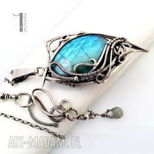 niebieskie naszyjniki 925 taivas srebrny naszyjnik z
