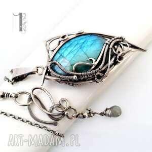 niebieskie naszyjniki 925 taivas srebrny naszyjnik