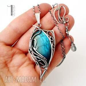 wirewrapping naszyjniki taivas srebrny naszyjnik z