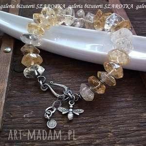 handmade naszyjniki srebro taka słodka bransoletka z cytrynów
