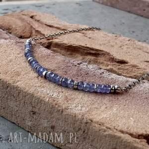delikatny naszyjniki niebieskie tanzanity i srebro