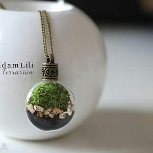 handmade naszyjniki mech ♥ terrarium ii naszyjnik część