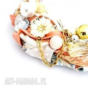 ręcznie zrobione naszyjniki naszyjnik the peach handmade