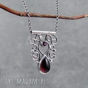 drobny naszyjniki czerwone tiny pendant orient garnet