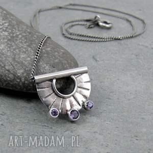codzienny naszyjniki tiny pendant three lavender dots