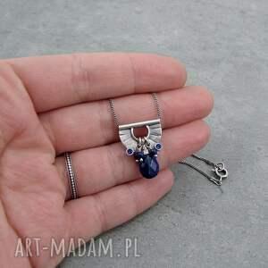 niebieskie naszyjniki drobny tiny pendant and lapis lazuli drop