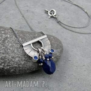 przy szyi naszyjniki tiny pendant and lapis lazuli drop