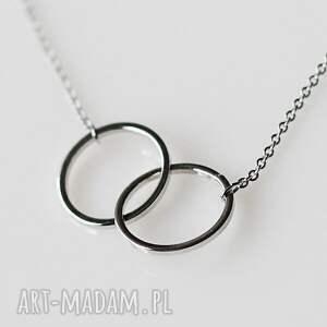 wyraziste naszyjniki obrączki together forever v silver
