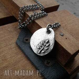 ręcznie wykonane naszyjniki surowy tree of life - srebro ag 925