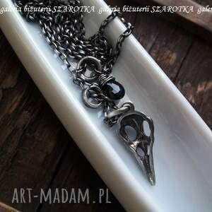 srebro naszyjniki trochę mroczny naszyjnik ze spinelu