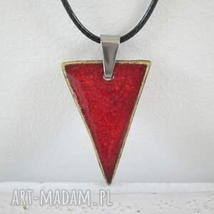 hand made naszyjniki ceramiczny trójkątny naszyjnik