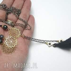 hand made naszyjniki rozeta troki /boho navy/vol. 2 -