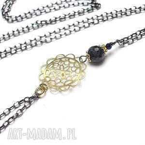 hand made naszyjniki srebro oksydowane troki /boho navy/vol. 2 -