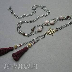różowe naszyjniki pozłacane naszyjnik wykonany ze srebra