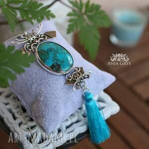 turkusowe naszyjniki wisiorek turkusowa poświata