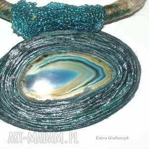 kolorowe naszyjniki naszyjnik turkusowy naszyjnik-agat