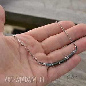 turkusowe naszyjniki srebro turmalin. krótki naszyjnik
