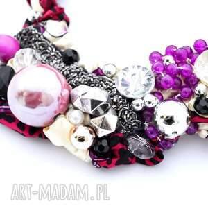 ręcznie wykonane naszyjniki naszyjnik ultra violet handmade