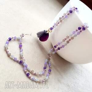 fioletowe naszyjniki długi ultra violet