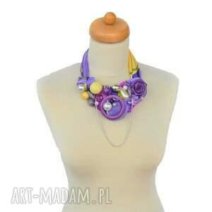 kolorowe naszyjniki naszyjnik ultrafiolet handmade