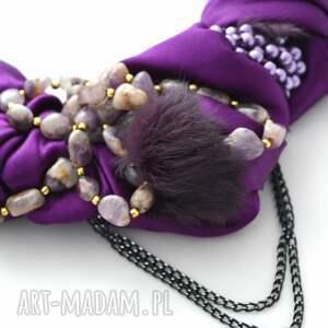 oryginalne naszyjnik ulytra violet handmade