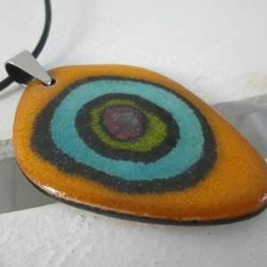 efektowne naszyjniki kolorowy naszyjnik unikatowy ceramiczny