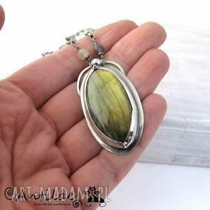 zielone naszyjniki labradoryt urrere - labradoryt, kamień