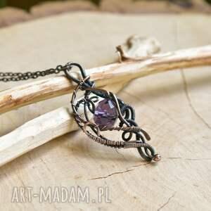 naszyjniki wisior z-miedzi violet elegance - naszyjnik
