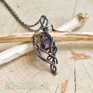 wisior z-miedzi violet elegance - naszyjnik