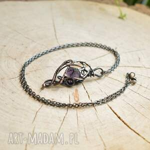 handmade naszyjniki violet elegance - naszyjnik