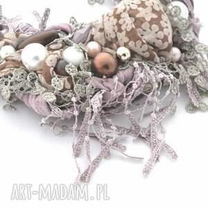 naszyjniki naszyjnik violett handmade