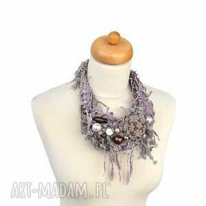 kolia naszyjniki violett naszyjnik handmade