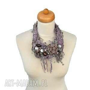 naszyjniki kolia violett naszyjnik handmade