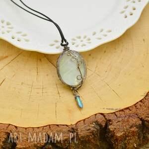 oryginalne naszyjniki wisior terrarium w błękicie - naszyjnik z prawdziwym